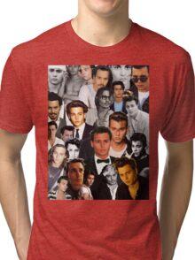 Johnny Depp Collage Tri-blend T-Shirt