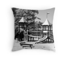 Snow and Adolescence Throw Pillow