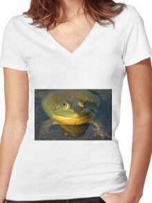 I'm Feeling A Little Deflated Women's Fitted V-Neck T-Shirt