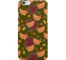 Cute Brown Fall Chicken Pattern iPhone Case/Skin