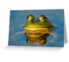 Pond Frog Greeting Card