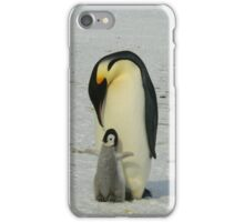 Mother And Baby Penguin  iPhone Case/Skin