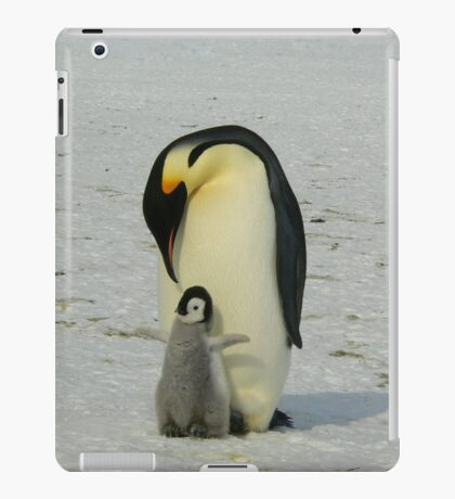 Mother And Baby Penguin  iPad Case/Skin
