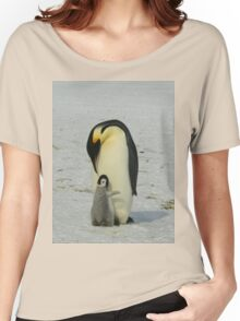 Mother And Baby Penguin  Women's Relaxed Fit T-Shirt