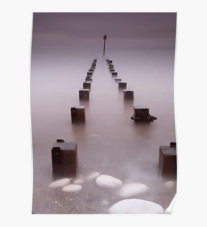 Bridlington Foggy sunrise Poster
