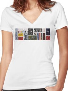 Society (2015) Women's Fitted V-Neck T-Shirt