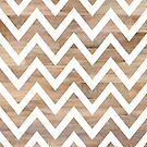 woodgrain chevron by beverlylefevre