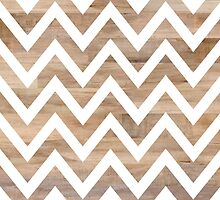 woodgrain chevron by beverlylefevre