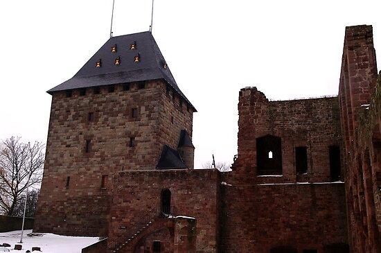 The Keep of Burg Nideggen by TriciaDanby