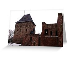 The Keep of Burg Nideggen Greeting Card