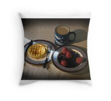 Card: Breakfast Of Champions Throw Pillow