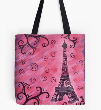 Eiffel Tower in Pink Tote Bag