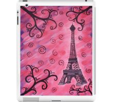 Eiffel Tower in Pink iPad Case/Skin