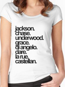 Percy Jackson And the Olympians characters Women's Fitted Scoop T-Shirt