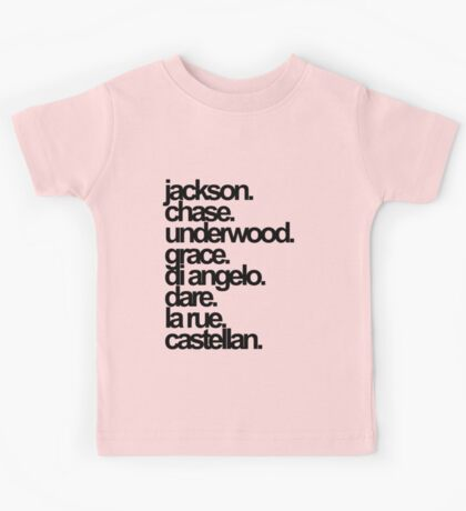 Percy Jackson And the Olympians characters Kids Tee