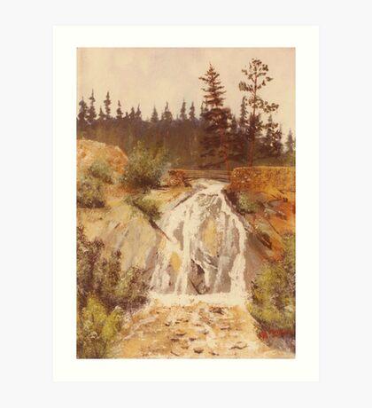 Hellen Hunt Falls-Colorado Springs,Colorado-acrylic painting Art Print
