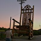 """World's Largest Cedar Rocker"" by Susan Russell"
