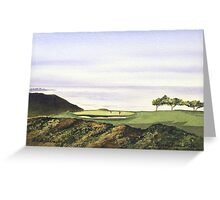 Torrey Pines South Golf Course Hole 3 Greeting Card