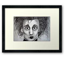 Johnny as Edward Framed Print