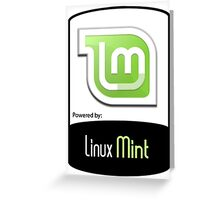 Powered By Linux MINT ! Greeting Card