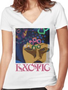 Exotic Women's Fitted V-Neck T-Shirt