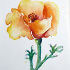 Golden Orange and Tangerine Poppy by CheyAnne Sexton