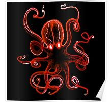 Octopus Red Poster