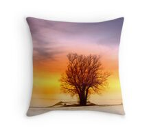 Single tree Throw Pillow
