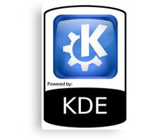 Powered By KDE ! Canvas Print