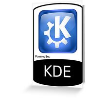 Powered By KDE ! Greeting Card