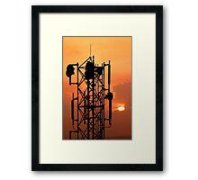 Communication Tower Framed Print
