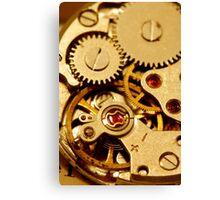 Antique watch mechanism Canvas Print