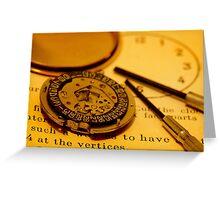 Watch repair Greeting Card