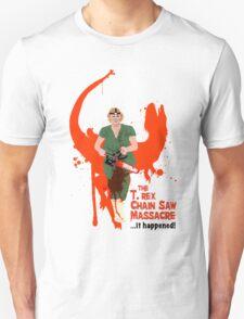 The T. rex Chainsaw Massacre Unisex T-Shirt
