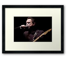 Jimmy Vaughan, 7.21.2002 Framed Print