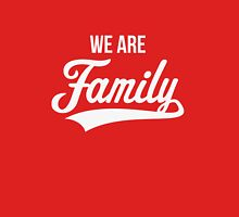 We Are Family (White / Red) Womens Fitted T-Shirt