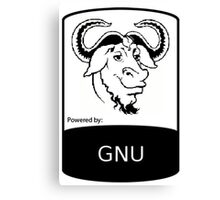 powered by GNU ! Canvas Print