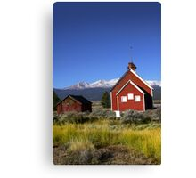 Historic school house Canvas Print