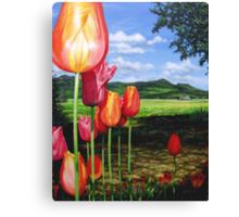 Tulips on the Edge Canvas Print
