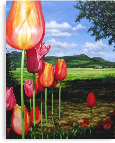 Tulips on the Edge by A. F. Branco