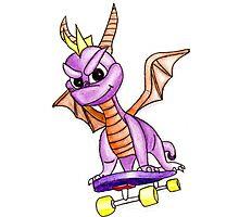 my spyro the dragon drawing Photographic Print