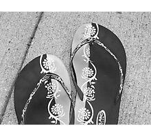 Flip Flops in Black & White Photographic Print