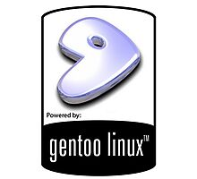 powered by gentoo Photographic Print