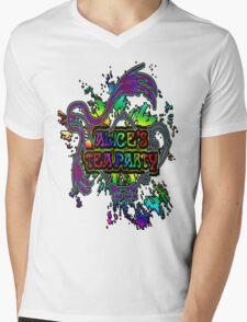 Paint Splatter Logo Mens V-Neck T-Shirt