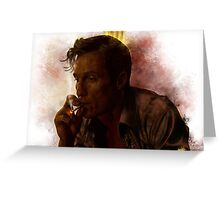 True Detective - Rust Cohle Greeting Card