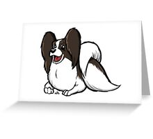 Papillon cartoon dog Greeting Card