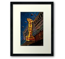 The Well Known Neon Sign at the Original Nathan's Famous Frankfurters Framed Print