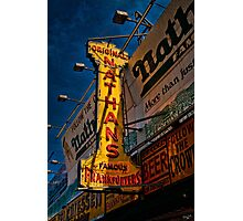 The Well Known Neon Sign at the Original Nathan's Famous Frankfurters Photographic Print