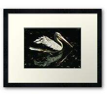 Floating into the silence Framed Print