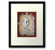 bookinitialsportrait Framed Print